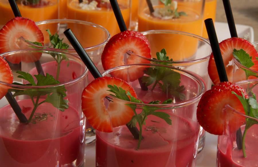 Gazpacho de fresa y remolacha